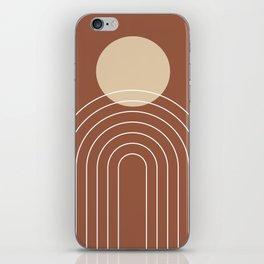 Mid Century Modern Geometric 3 (Terrocatta and beige) iPhone Skin