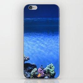 Fish in blue tank iPhone Skin