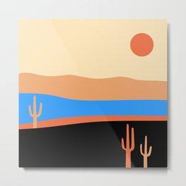 Retro Boho Desert Metal Print