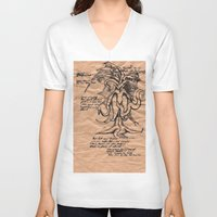 lovecraft V-neck T-shirts featuring Lovecraft Series: the Old Ones by Furry Turtle Creations