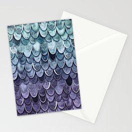 MAGIC MERMAID - MYSTIC TEAL-PURPLE Stationery Cards