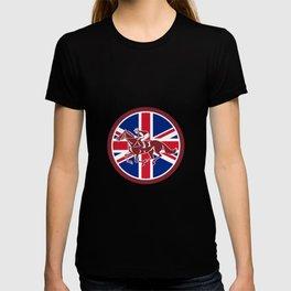 British Jockey Horse Racing Union Jack Flag T-shirt