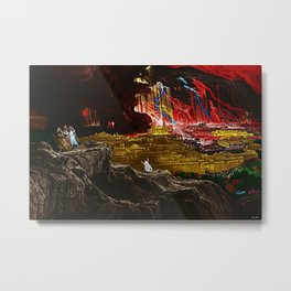 The Destruction of Sodom and Gomorrah Landscape Painting by Jeanpaul Ferro Metal Print
