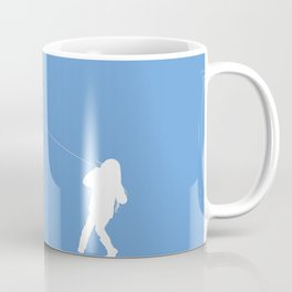 Little Girl with a Kite in Sky Blue Coffee Mug