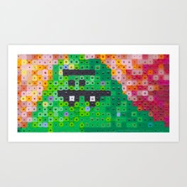 Perler bead monster Art Print