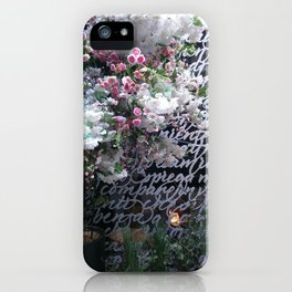 At the Mayfair florist III iPhone Case