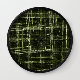 Abstract jade squares and lines Wall Clock