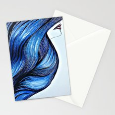 Abstract Hair Stationery Cards