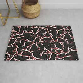 "Air Jordan 11 ""Bred"" Collage Print Rug"