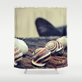 Cat Snails Shower Curtain