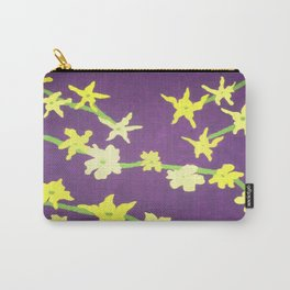 Yellow Flowers On Purple Carry-All Pouch