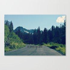 Go Explore the World Canvas Print