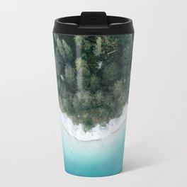 Green and Blue Symmetry - Landscape Photography Travel Mug