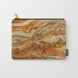 Orange Rock Texture Carry-All Pouch