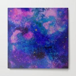 Watercolour Galaxy Metal Print