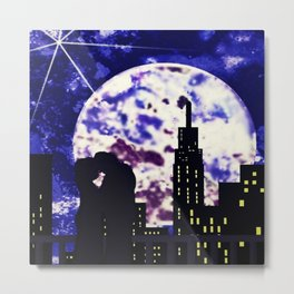 With the Moon's Approval Metal Print