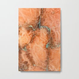 Abstract mineral texture Metal Print
