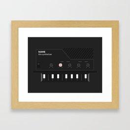 Analog Synth (Monotron) Framed Art Print