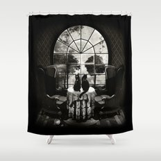 Room Skull B&W Shower Curtain