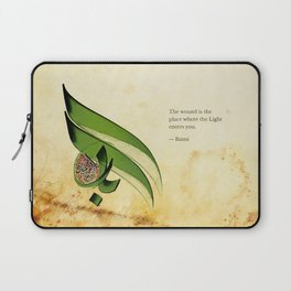 Arabic Calligraphy - Rumi - Light Laptop Sleeve