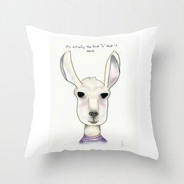 robert llama Throw Pillow