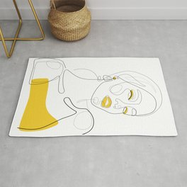 Lady In Gold Rug