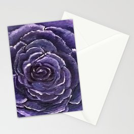 Purple Rose Close Stationery Cards