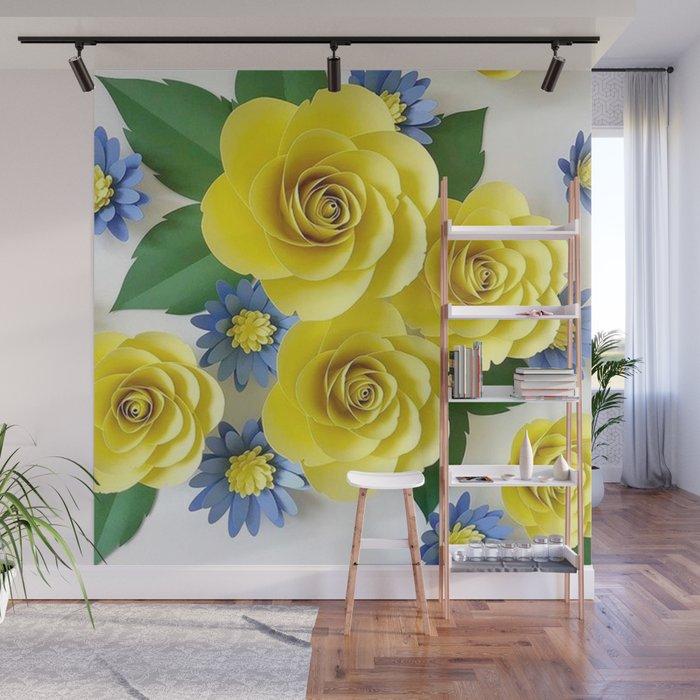 Mural Com Rosas