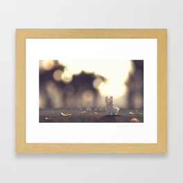 Tiny Alpaca Adventures Framed Art Print