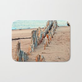Wharf Remains on the Beach Bath Mat