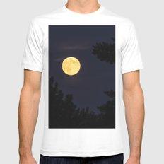 Moon Light MEDIUM Mens Fitted Tee White