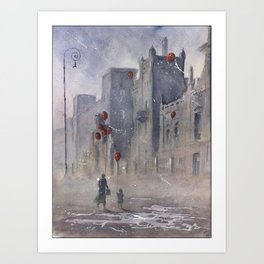 The dream seller and old factory Art Print
