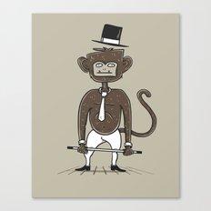 A fu*king tap dancing monkey Canvas Print