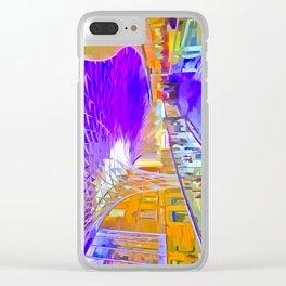 London Pop Art Clear iPhone Case