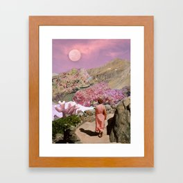 Path to pink moon Framed Art Print