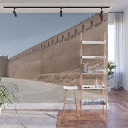 Yazd City Walls with Towers, Persia, Iran Wall Mural