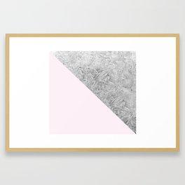Pink + Frost Framed Art Print