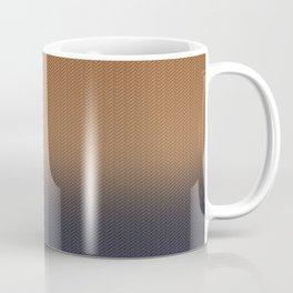 Ombre Blue and Rust Herringbone Pattern Coffee Mug