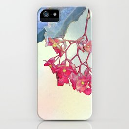 HANGING PINK BEGONIA iPhone Case