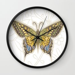 Antique Butterfly Wall Clock