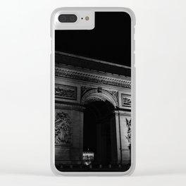 Noir Paris V Clear iPhone Case