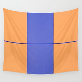 August - Orange and Blue Wall Tapestry