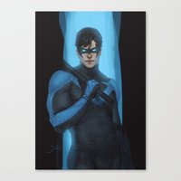 nightwing Canvas Prints featuring Nightwing by Guilherme Prieto