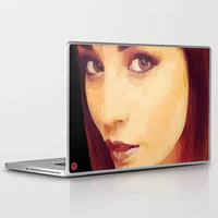 caleb troy Laptop & iPad Skins featuring Ellen of Troy by iArtMike