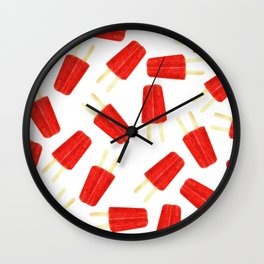 Red Popsicles Wall Clock