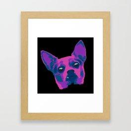 chihuahua - blk Framed Art Print
