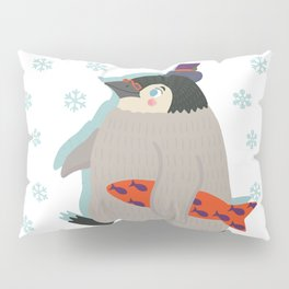 March of The Holiday Penguin Pillow Sham