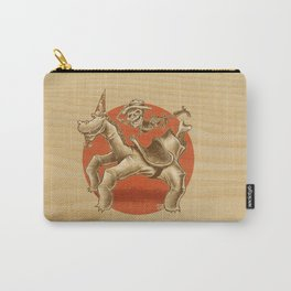 Hand-Horse-Skeleton-Rider Carry-All Pouch