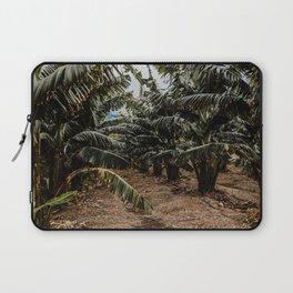 Banana plantation, banana leaves, Tenerife - Travel Photography Art Print Laptop Sleeve