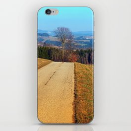 Tree in the middle of the road | landscape photography iPhone Skin